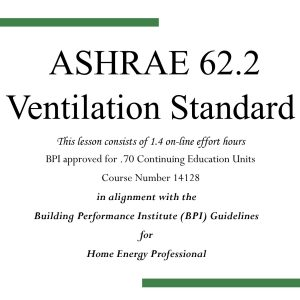 ASHRAE 62.2 Ventilation Standard ~ 14128